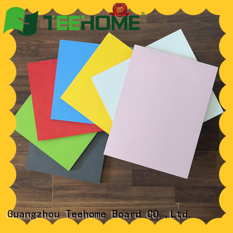 Teehome quality melamine chipboard factory price for modern furniture, for toilet partition
